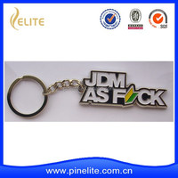 custom JDM metal car key chain with plating chrome