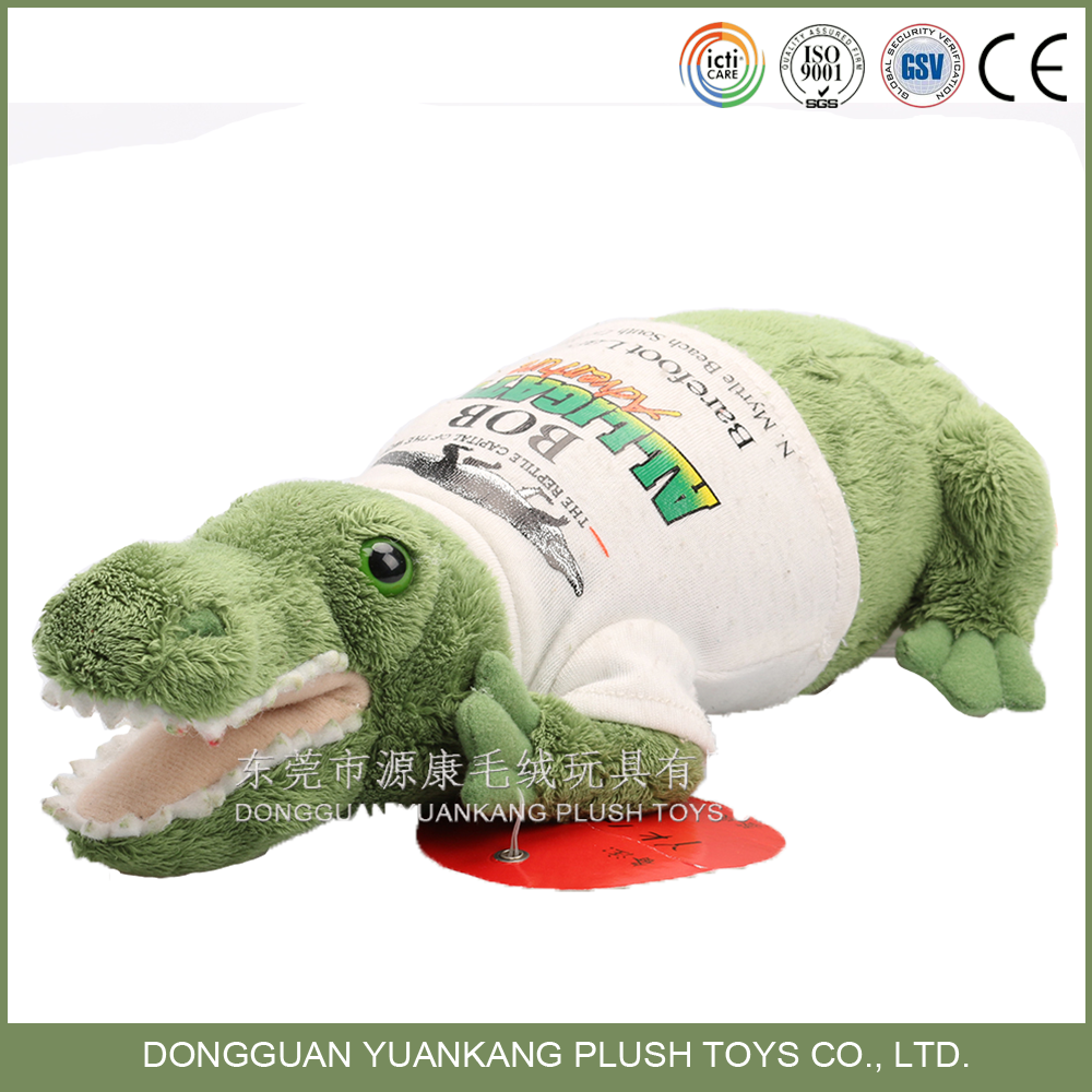 Custom Stuffed Animal Toy Plush Crocodile Toy with Clothes