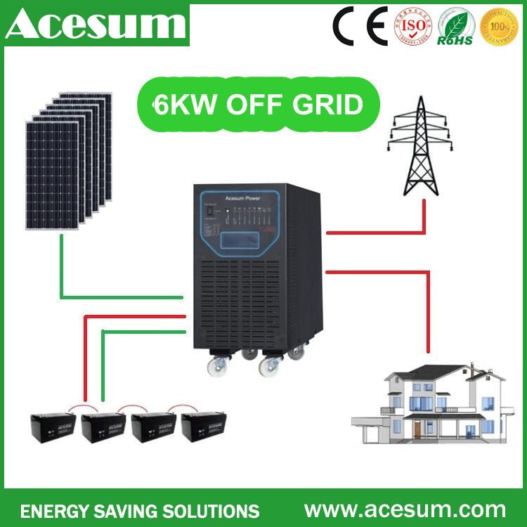 Acesum portable off grid cost of solar power system DC 12v 24v 48v to AC 110V 120V 220V 230V 240V for solar generator