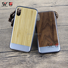 Wholesale tpu pc phone case, Anti-Scratch round wood metal phone case phone cover for iphone X