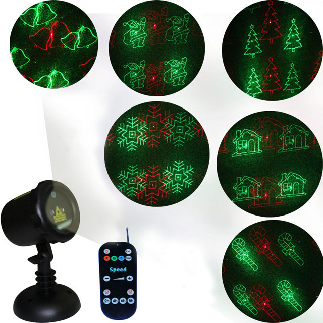 Red and Green moving IP65 waterproof Christmas Laser decorative Lighting