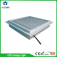 CE Approved Outdoor 150W LED Canopy Lighting UL meanwell driver 277v