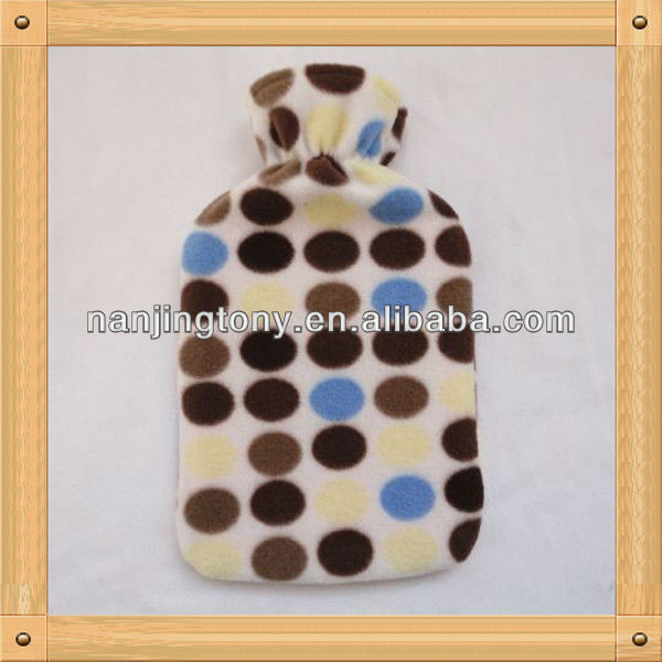 2014 hot water bottle with cover of christmas gift, very popular in European market