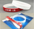 Top quality two color top 10 bulk cheap silicone wristbands for NBA