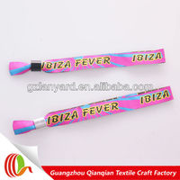 2014 Wedding favor giveaway textile disposable colored wristbands