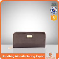 4648 fashion lady wallet low price patent PU leather purse
