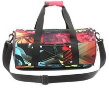 famous brand cylinder shape sports duffel bag