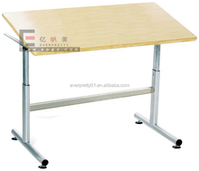 Professional design school furniture adjustable folding drawing table & painting table