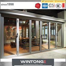 Hot Selling Australia Standard Aluminum Exterior Glass Folding Door For Commercial