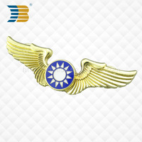 professional metal custom wing badge