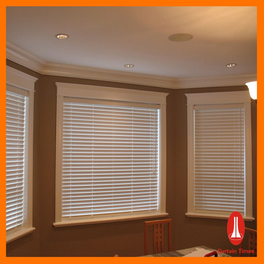 Curtain times Wood Mini Window Blinds For Dining Room