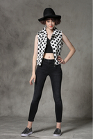 free delivery Fancy Hot White and Black Polyester Sleeveless printed latest clothing