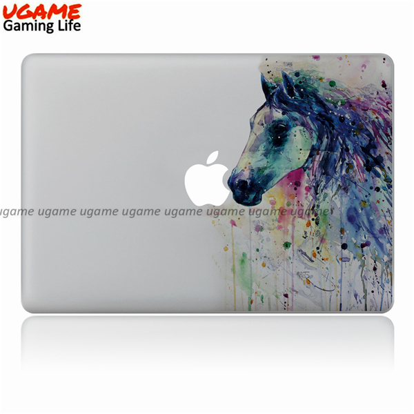 Wash color horse decal skin stickers for macbook