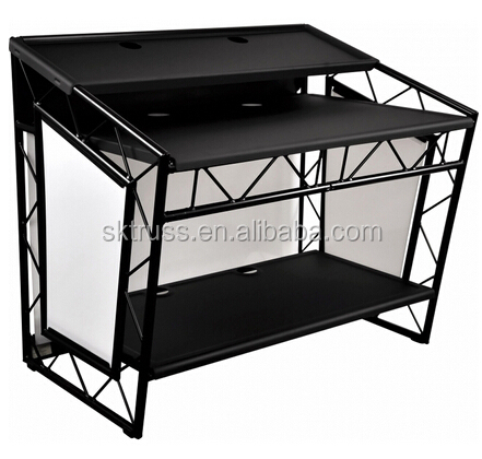 LiteConsole XPRS Black Foldable Mobile DJ Booth Club Trussing Stand