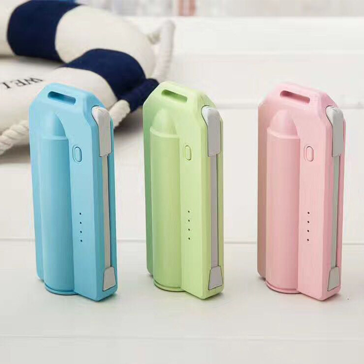 Outdoor promotional gift power bank 2200mah keychain power bank buit-in cable power bank