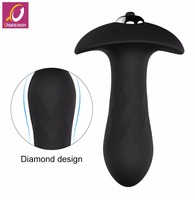 Small size anal toys series butt plug made of medical silicone with 7 speeds vibrating bullet