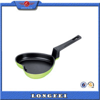 Loving heart shaped pizza pan aluminium non-stick egg fry pan