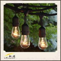 Led S14 Globe Bulbs Black Outdoor String Light wholesale