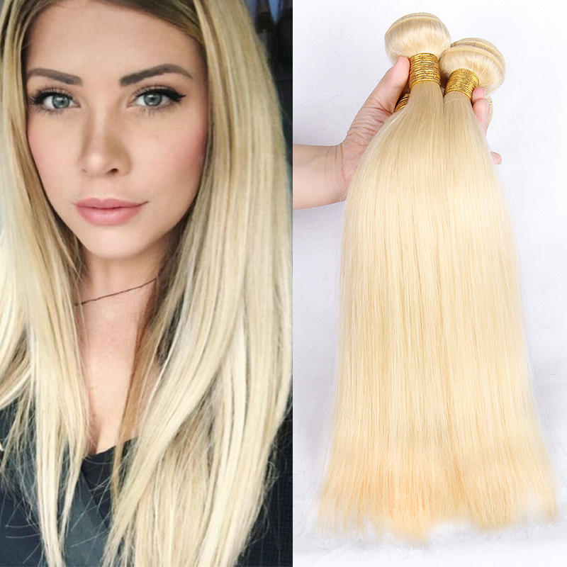 Xuchang Hair Factory Hot Sale Brazilian Human Hair 613 Blonde Silky Straight Hair Bundle