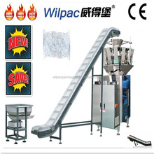 Foshan factory price 10 heads weigher and packing VFFS machine for ice pellet packing machine with single servo system and CE