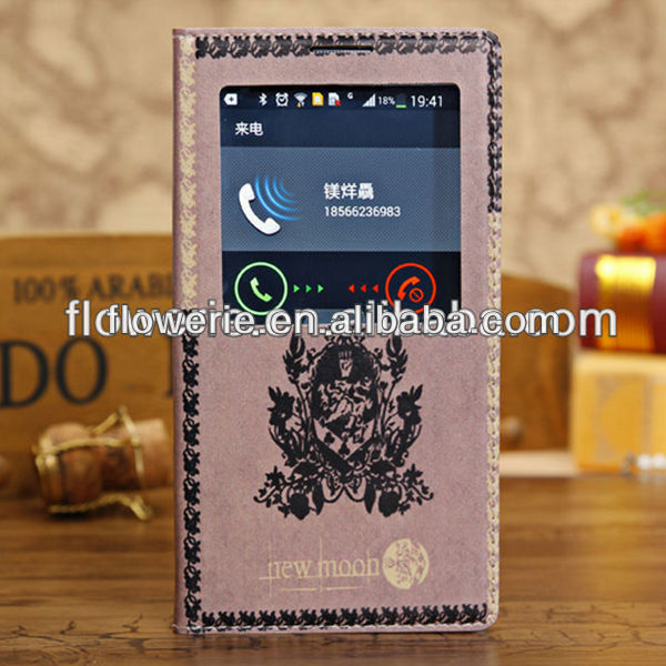FL3342 2014 China wholesale classic retro purse leather case for samsung galaxy note 3 N9000