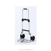 "TWO 7"" SOLID RUBBER WHEEL FOLDABLE ALUMINUM HAND TRUCK"