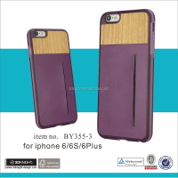 Mobile phone accessory leather phone case wooden case for iphone