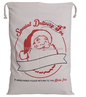 hot sells popular Wholesale Cheap customized design Burlap shoping Christmas Santa Sack bag