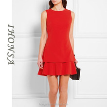 New Arrival Korean Dresses New Fashion Short Cocktail Red Dresses HSD6871