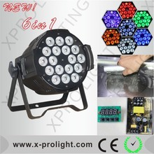 18x15W RGBWA+UV High Power PAR 64 LED DJ Stage Lamp Show Light SIX Color mixing Effect UV LED light