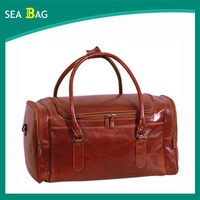 Fully Genuine Leather Gym Hiking Camping Trendy Mens Travel Bag