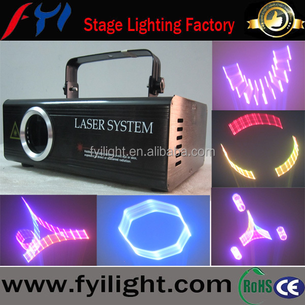 1W 3D RGB animation laser/laser show light with SD card