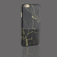 marble design PC materials cover for Iphone 7/ Iphone 6 in black color