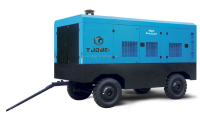 Man truck mounted air brake compressor