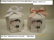 Wedding Door Gift Boxes / Kotak Bunga Telur