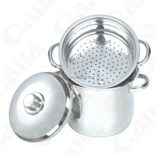 QANA Stainless steel pasta cooking pots
