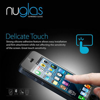 Nuglas Cell Phone Screen Protector for iPhone 5/5s Tempered Glass Screen Protective Film