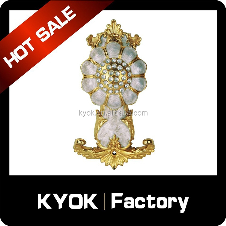 KYOK European style delicate curtain holder/hook, aluminum alloy curtain pipe/rod, window improvement accessories