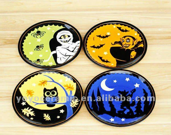 ceramic halloween decoration halloween dinner plates
