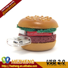 Food Shape USB 8GB Hamburger Stick PVC Memory Pendrivers Customized