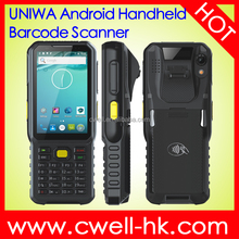 UNIWA K100 4.0 Inch Screen IP65 Waterproof Rugged 1D Android Handheld Barcode Scanner mobile phone