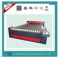 1325 RECI tube auto and non auto feeding system/textile cutter sofa cutting fabric laser cutting machine