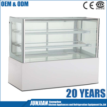 Commercial refrigerated supermarket open cake display chiller
