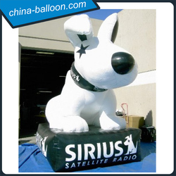 Event promotional inflatable dog model, giant mascot figure with logo