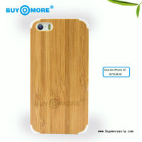 2014 new product bamboo silicone for iphone 5s cases
