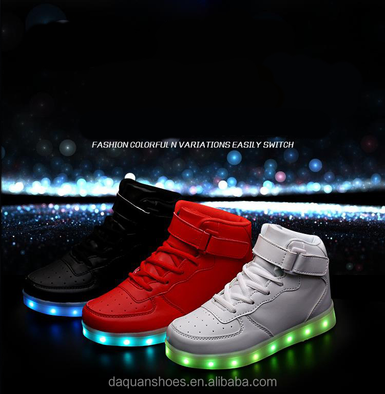 7 color light changing led shoes,sneaker led shoes