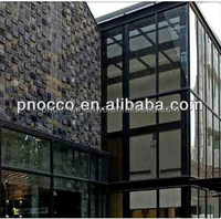 Aluminum glass wooden house india price made in China