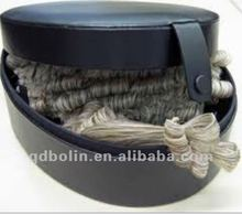 Design Standard Cheap Solid Leather Wig Case For Barrister Wigs