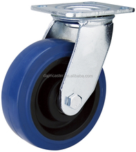 Economical Heavy Duty Rubber Caster with Elastic Rubber Wheel