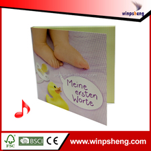 DIY create baby showers music birthday greeting cards with voice chip